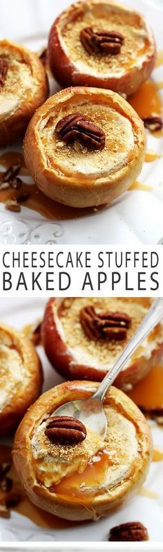 Cheesecake Stuffed Baked Apples | Bake a Bite