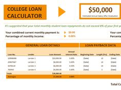 Simple Interest Loan Calculator  Template    Simple