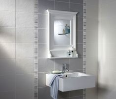 Laura Ashley - 20 Wiston White Wall Satin Tiles - - at Victorian Plumbing UK Bathroom Feature Wall, Feature Tiles, White Wall Tiles, White Bathroom Tiles, Laura Ashley Bathroom Tiles, Laura Ashley Furniture, Ceramic Texture, New Bathroom Ideas