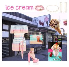"""""""#icecreamtreats"""" by rboowybe ❤ liked on Polyvore featuring interior, interiors, interior design, home, home decor, interior decorating, Mara Hoffman, Chinese Laundry, Samudra and de Grisogono"""