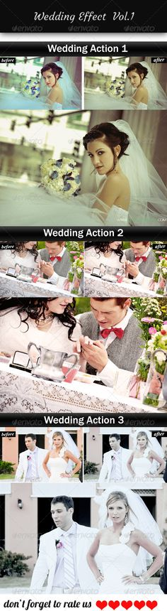 Buy Wedding Effect by iPSDhunter on GraphicRiver. Wedding Effect is a set of amazing Photoshop actions, turn your simple photographs to awesomeness. Photoshop Photography, Landscape Photography, Best Photoshop Actions, Before Wedding, Print Templates, Original Image, Graphic Design, Stock Photos, Awesome