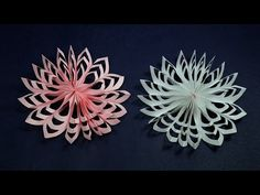 Paper Snowflakes Christmas Craft | How to Make Paper Snowflakes Quickly - YouTube
