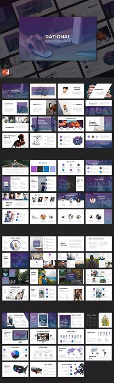 Rational PowerPoint Presentation Template #unlimiteddownloads