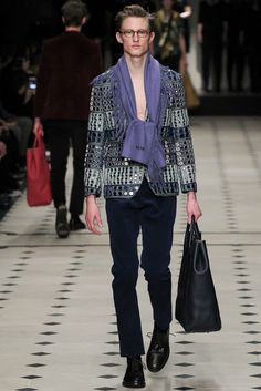 Burberry Prorsum Fall 2015 Menswear - Collection <3 the Mirrorwork detailing