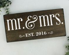 Mr and Mrs Sign Wedding Gift Mr and Mrs Table Sign Wedding Gift Ideas Bridal Shower Gift Ideas Gift for Wife Anniversary Gift
