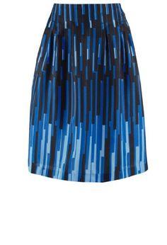 Avenue Plus Size Blue Print Skirt