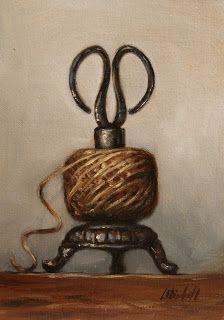 Still Life paintings by Carolina Elizabeth Scissors and Twine Fixer Upper