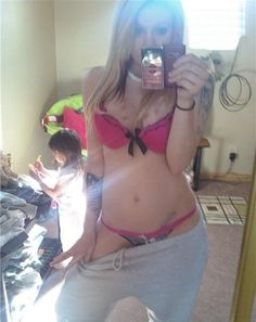 just a second honey, let me post this to facebook..  damn skank - poor kid