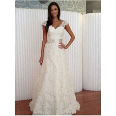 2015 Elegant A Line Long Lace Wedding Dresses V neck Bridal Gowns Abiti Da  Sposa Vestido De Noiva Sereia China Store Online-in Wedding Dresses from  Weddings ... 5ac4978f632d