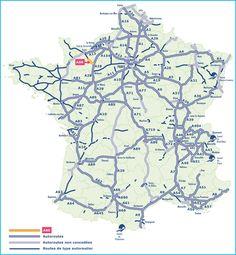 Réseau autoroutier France