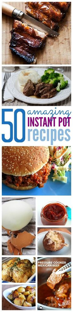 Over 50 AMAZING Instant Pot Recipes, if you are looking for Pressure Cooker Recipes that your family will love check out this BIG list of amazing Instant Pot Recipes!