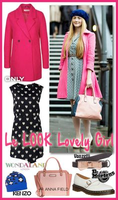 Look lovely girl en manteau rose ...