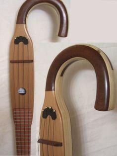 Custom Made Walking Cane Ukulele  Free Shipping by ArCaneLutherie, $350.00