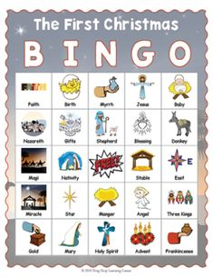 Advent BINGO - Christian Christmas BINGO by Drag Drop Learning | TpT Christmas Bingo Game, First Christmas, Fun Classroom Activities, Educational Games For Kids, Christian Christmas, Birth Of Jesus, Bingo Games, Memory Games, Calling Cards