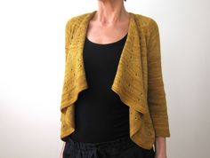There can never be enough open-front cardigans. This in pashmina.