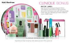 This is a great bonus gift at Holts (Holt Renfrew) starting tomorrow. http://clinique-bonus.com/canada/
