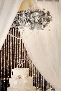 glam winter wedding