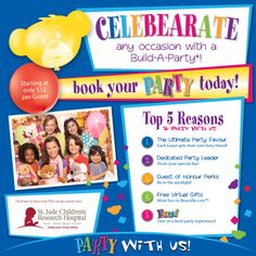 Build A Bear Located In The Bayshore Shopping Centre Birthday Party Locations Kids