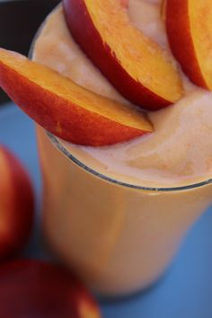 Healthy Peach Smoothie uses frozen peaches plus cabbage (what? cabbage?)