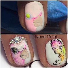 Юмор мастеров. Отдохните от работы! Ногти | Nail Red Nail Designs, Beautiful Nail Designs, Cute Nails, Pretty Nails, Mickey Nails, Fingernails Painted, Nailart, Animal Nail Art, Tribal Nails