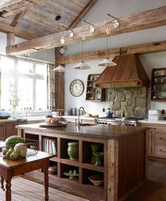 The rustic cottage kitchen of your dreams. The rustic cottage kitchen of your dreams. Cottage Kitchens, Modern Farmhouse Kitchens, Home Kitchens, Rustic Country Kitchens, Dream Kitchens, Country Decor, Kitchen Fan, Home Decor Kitchen, Kitchen Ideas