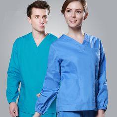 c47fdf0d101 2017 Cheap Long Sleeve Scrubs Uniforms Sets Women and Men Unisex Medical  Uniforms Wholesales Scrub Sets