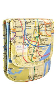 Taxi Wallet Imagery - NY Transit Map.