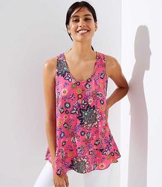Shop LOFT for stylish women's clothing. You'll love our irresistible Mixed Floral Flounce Tank Top - shop LOFT.com today!