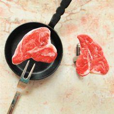 TBone Steak Meat Cufflinks  I Love Steak Cuff by SchickieMickie