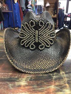9520a52dc17e6 Tessa Couture Rhinestone Appliqué Cowgirl Hat