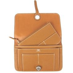 Hermes Dogon Wallet Togo Leather   Socialite Auctions
