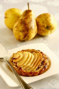 Tarte Poire Noisette (Pear Tart with Hazelnut Cream) || phamfatale.com