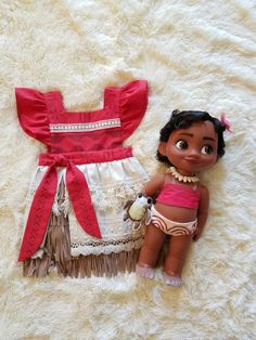 Moana Girls Pinafore dress by Memourii on Etsy