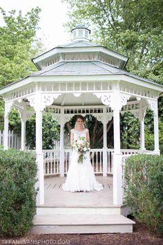 Bridal portrait inspiration with gazebo | Charlotte, NC wedding photography | Tiffani Evans Photo