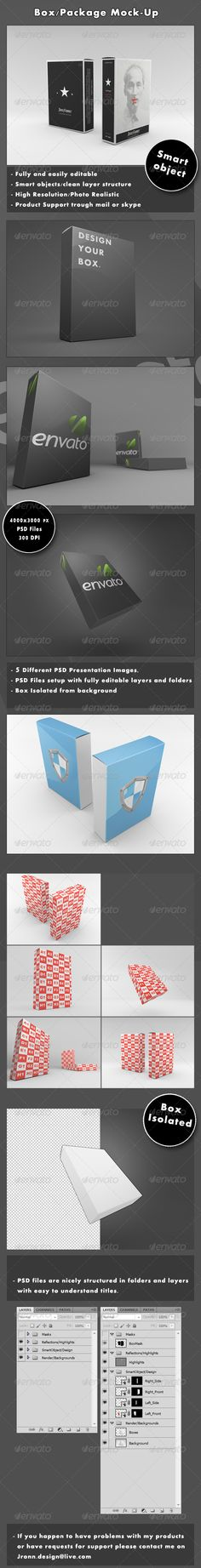 45 Best 3D box (package) mock up images in 2014 | Mockup