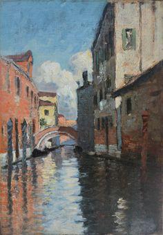 - Artist: Charles Houben (Belgium, 1871-1931) - Medium: Oil on canvas glued to…