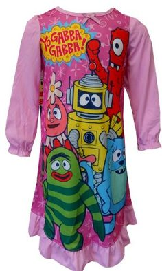 Amazon.com: Nickelodeon Yo Gabba Gabba Characters Toddler Nightgown for girls: Clothing