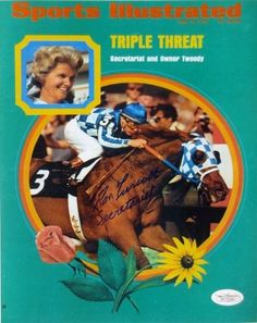 "Ron Turcotte Signed 8x10 Photo 1973 SI Cover Triple Threat """"Secretariat"""" JSA ITP"