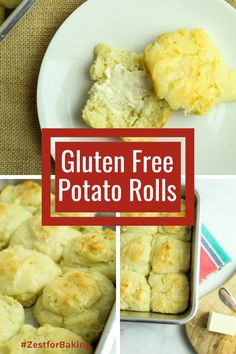 Super easy and super delicious, these Gluten Free Potato Rolls are the best thing to compliment any meal. Plus, they're simple to make and store well! #glutenfreebread #glutenfreerolls #dinnerrolls