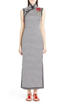 Dolce&Gabbana Stripe Silk Dress available at #Nordstrom