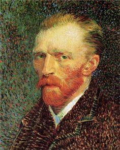"""Vincent Van Gogh. """"Autorretrato"""". 1887. Óleo Sobre Lienzo. Instituto De Arte De Chicago, Estados Unidos."""