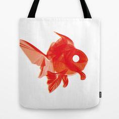 Moirè Goldfish Tote Bag by giuditta matteucci - $22.00