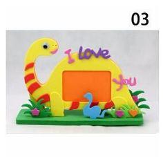 2017 New EVA Photo Frame Foam Craft Toy Kids DIY Kits Educational toys for Children Bee Owl Giraffe Dinosaur Elephant Cow Turtle