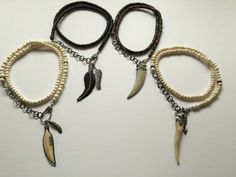 Mix and Match chains And pendants! Bone,wood,Pave Diamonds,Sterling Silver Chain!