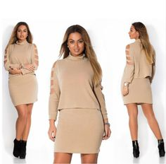 Cheap dresses, Buy Quality summer dress directly from China summer dress women Suppliers: Sakazy 2 Pieces Hollow Long Sleeves Summer Dress Woman Casual Solid Color Fat Mm Plus Size Women Clothing Big Size Dress Big Size Dress, The Dress, Dress Long, Plus Size Womens Clothing, Clothes For Women, Office Fashion Women, Summer Dresses For Women, Women's Fashion Dresses, Autumn Summer