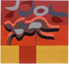 "ein-bleistift-und-radiergummi: "" Peter Green 'Red Form Shadows No. Artist Painting, Painting & Drawing, Stencil Printing, Green Art, Abstract Art, Abstract Paintings, Print Patterns, Shadows, Colors"