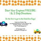 This freebie is part of the larger Start Your Engines Following Directions Game! It includes the game board, 16 one step direction cards, and 8 two...