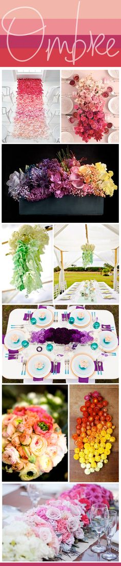 ombre flower arrangements