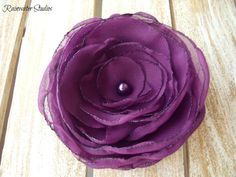 Wedding Hair Flower Mystic Purple RainwaterStudios  $25.00