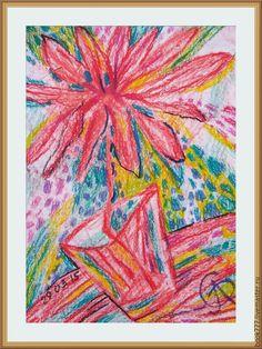 Купить Тот аромат, тот звук, тот свет--( Счастливый цветок ) - кремовый, картина в подарок
